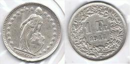 SUIZA HELVETIA  FRANC 1944 PLATA SILVER.pC1 - Suiza