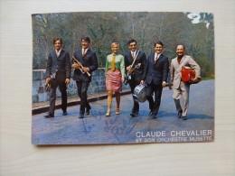 Claude  CHEVALIER Et Son Orchestre, Photo Dédicacée AUTOGRAPHE, Trompette, Accordéon ; Ref PH04 - Signed Photographs