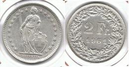 SUIZA HELVETIA 2 FRANCS 1961 PLATA SILVER .pC3 - Suiza