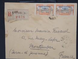 FRANCE-GABON-Enveloppe En Recommandée De Lambaréné Pour Montauban  En 1932 Aff Plaisant à Voir Lot P6880 - Covers & Documents