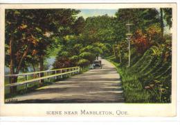 MARBLETON, Quebec, Canada, 1900-1910's; Road Scene, Classic Car - Unclassified