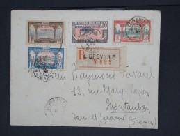 FRANCE-GABON-Enveloppe En Recommandée De Libreville Pour Montauban  En 1932 Aff Plaisant à Voir Lot P6881 - Covers & Documents