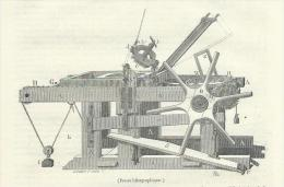 GRAVURE De 1847... Presse Lithographique - Estampes & Gravures