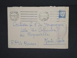 PORTUGAL-Enveloppe De Lisbonne Pour Monte-Carlo En 1943 Avec Controle Postal  Aff Plaisant à Voir Lot P6887 - 1910-... République