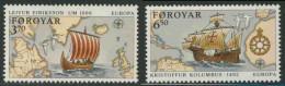 Faroer Faroe Islands 1992 Mi 231 /2 Sc 236 /7 ** 500th Ann. Discovery America By Leif Eriksson + Columbus - Christoffel Columbus