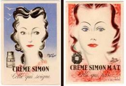 Carte Parfumée Crême Simon, Signée Pierre Hérault - Cartes Parfumées