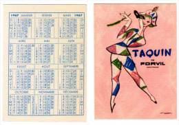 Carte Parfumée, Taquin De Forvil (calendrier 1967) - Cartes Parfumées
