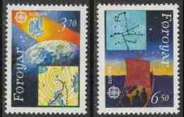 Faroer Faroe Islands 1991 Mi 215 /6  Sc 220 /1 ** Earth + Weather Map And Sailors Navigation By Stars -Wetterkarte - Féroé (Iles)