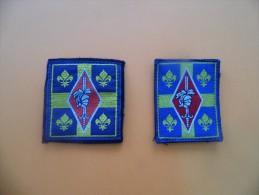 Lot De 2 écussons 10ème Division Blindée 1993  (épaule Et Poitrine Velcro) - Patches