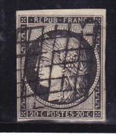 France N°3 - Oblitéré - TB - 1849-1850 Cérès