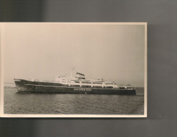 PHOTO ANCIENNE BATEAU CORSICA ESPRESS CORSICA LINE 1937 1967 HELSINGORS   TRANSPORT MARITIME ITALIE - Barche