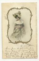 Dame Avec Beau Chapeau, Médaillon En Relief - Mode