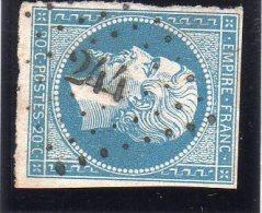 "FRANCE : PC 244 . "" LA BALME "" . (37) . N° 14 . TB  . - Marcophily (detached Stamps)"