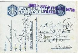 Franchigia    Regia Marina   Milmart Venezia 24 7 1941 Al Retro - 1900-44 Vittorio Emanuele III