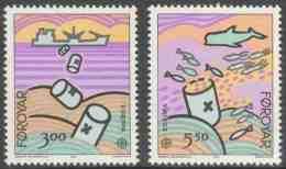 Faroër Faroe Islands 1986 Mi 134 /5 YT 128 /9 Sc 143 /4 ** Nature And Environmental Protection / Natur- Und Umweltschutz - Transportmiddelen
