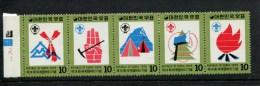 Zuid Korea  POSTFRIS MINT NEVER HINGED  YVERT 857 858 859 860 861 Scouts Jamboree Noorwegen - Corée Du Sud