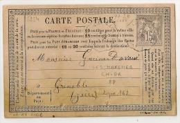 RARE Convoyeur De Station LES MARCHES Savoie Sur CP Au Type SAGE. Indice 17 Cote > 220 EUR - Marcophilie (Lettres)