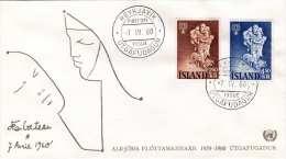 ISLAND 1960 - 2,5 + 4,5 K Auf First Day Cover Stempel Reykjavik - Briefe U. Dokumente