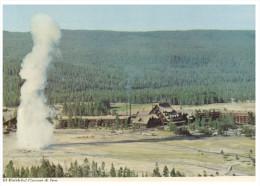 (999) USA - Yellowstone National Park Old Faithful Inn & Geyser - Yellowstone