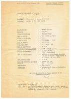 """BORD TOULON LE 1er DECEMBRE 1980  CORVETTE """" GEORGES LEYGUES""""  ORDRE DE DEBARQUEMENT - Bateaux"""