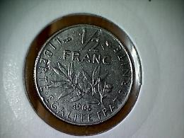 France 1/2 Franc 1965 ( Petits Caractères ) - G. 50 Centimes