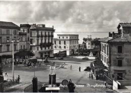 Lazio-roma-rocca Di Papa Veduta Piazza Margherita Ristorante Auto Corriera Auto Epoca Persone Animata - Altre Città