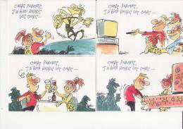 Jannin - Lot De 7CP  L'instant (journal Disparu - Complet Avec Son Enveloppe - CP06-14 - Comicfiguren