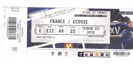 Stade De  France 2015 France Ecosse    435 - Biglietti D'ingresso