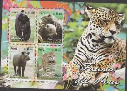 RO) 2014 PERU, JUNGLE ANIMALS, FAUNA, SOUVENIR MNH - Peru