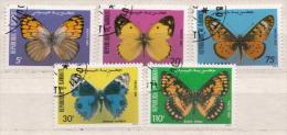 Djibouti Used Set - Schmetterlinge