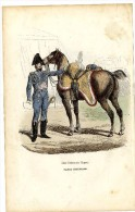 OFFICIER D ORDONNANCE DE L EMPEREUR  GARDE  IMPERIALE 1848  -  GRAVURE M DE MORAINE  FIN XIX° - Police & Gendarmerie