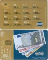 Telefonkarte Griechenland - 11/01 - Euro - Geldscheine -  Aufl. 55000 - Grecia