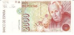 Spain 2000 Pesetas 1992 P162 UNC - [ 4] 1975-… : Juan Carlos I