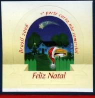 Ref. BR-2996 BRAZIL 2006 - CHRISTMAS, MAILBOX, RELIGION, GLITTER ON STAMP, MNH 1V Sc# 2996 - Brazil