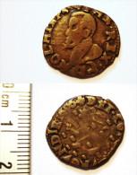 SPANISH NETHERLANDS. 2 DENIER 1606. DOLE. BOURGOGNE. RARE.  PAYS BAS ESPAGNOLS. - Nederland