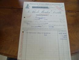Facture Illustree Chambon Feugerolles Moulin Deville Manufacture Rape Limes - France