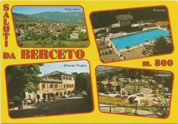 M3016 Saluti Da Berceto (Parma) - Albergo Del Poggio - Campeggio - Panorama - Piscina / Viaggiata 1988 - Italie