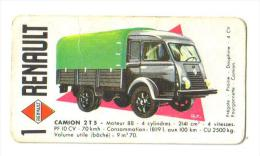 """Carton Publicitaire """"Renauilt"""" (6 Modèles Dont Dauphine-prairie-frégate-4 Cv) - Mapas"""