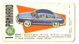 """Carton Publicitaire """"Panhardt"""" (6 Modèles Dont Dyna-E.B.R.-Taxi-Dyna Junior - Car) - Mapas"""