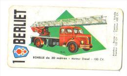 """Carton Publicitaire """"Berliett"""" (6 Modèles échelle De 30mètres-tracreur Tous Terrains-Autobus) - Cartes"""