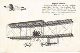 Biplan Farman (1910)   - CPM - ....-1914: Precursores