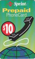 PUERTO RICO -  SPRINT Prepaid Card $10, Exp.date 31/03/03, Used
