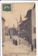 CPA NOIRETABLE LOIRE RUE DE LA CONCHE ET L EGLISE ANIMATION TACHES 1912 - Noiretable