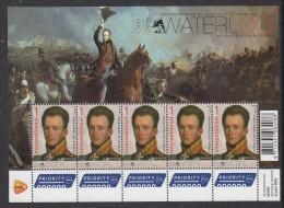Nederland 2015 200 Jaar Slag Van Waterloo Met Willen II Der Nederlanden Sheet - Period 2013-... (Willem-Alexander)