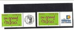 PAIRE  3761A  Logo Cérès Et Timbres Personnalisés NEUFS XX - Gepersonaliseerde Postzegels