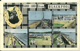 REGNO UNITO  LANCASHIRE  BLACKPOOL  Good Luck From..  Multiview - Blackpool