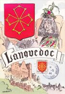 Carte Maximum FRANCE N°Yvert 603 (LANGUEDOC) Obl Sp Expo Antibolchevique Toulouse (Ed EMI) - 1940-49