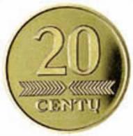 Lithuania -20 Centi 1999 Y - UNC - Litouwen
