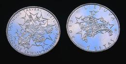 2013 LITHUANIA 1 LITAS 2013 EU PRESIDENCY UNC EUROPE UNION  STARS COIN From Mint Roll - Lituanie