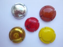 Lot De 5 - Capsule Plaque Muselet Couleur Diverses - Capsules & Plaques De Muselet